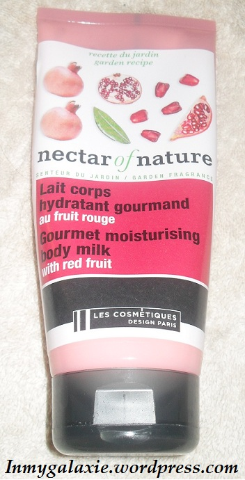 lait corps nectar of nature