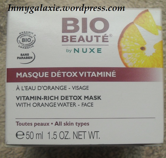 masque bio beauté nuxe carton