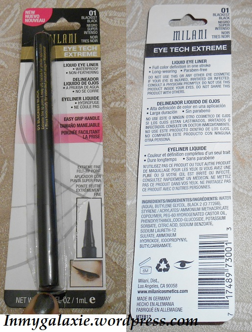 milani eyeliner packaging