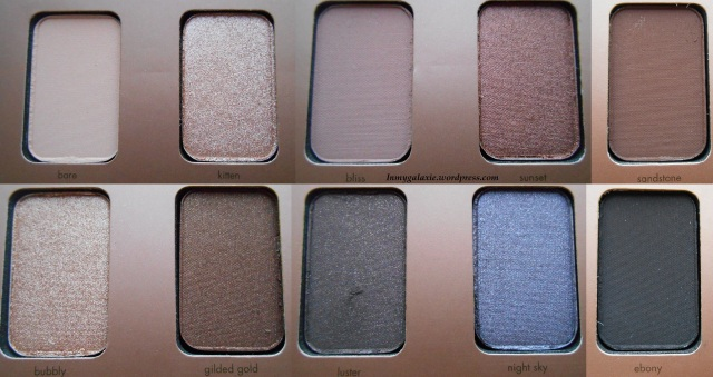 palette stila couleurs close up